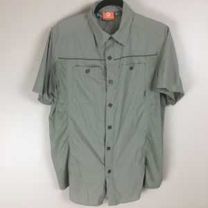 Merrell mens green short sleeve shirt M